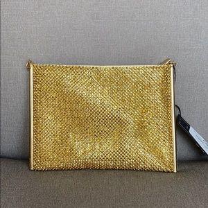 La Regale Crystal Convertible Clutch Gold